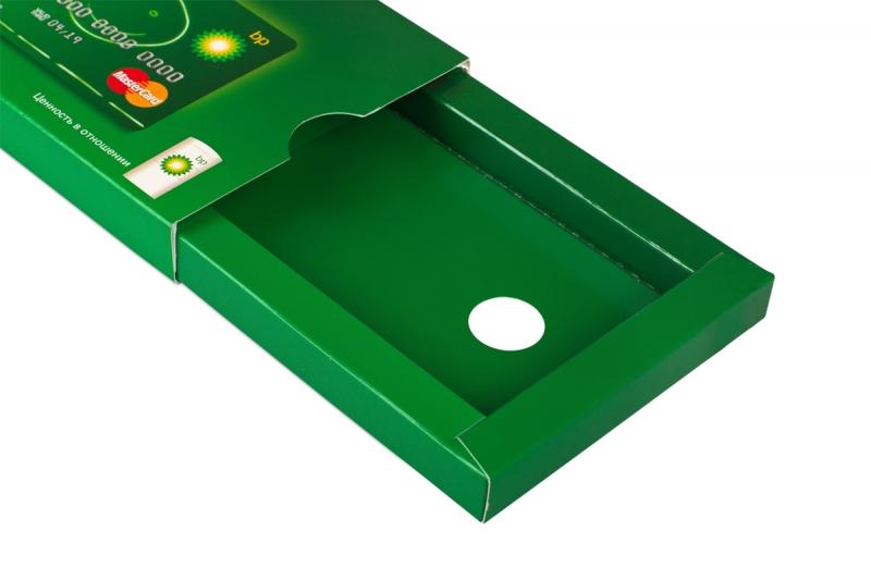оригинальная упаковка для пластиковых карт и буклета