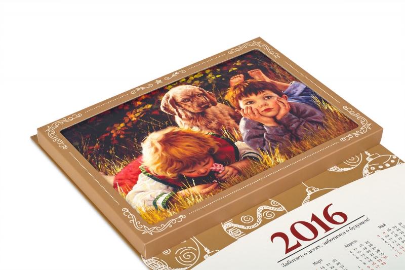 изготовление необычных календарей